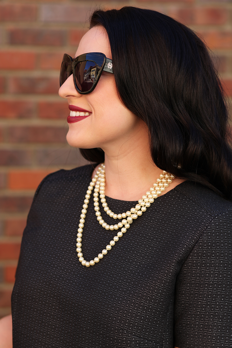 pearl-necklace-house-of-harlow-sunglasses-mac-darkside-lipstick-halogen-wear-to-work-king-and-kind-blog
