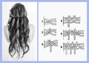 кос схемы колосок плетение