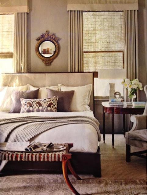 neutral beige and brown bedroom