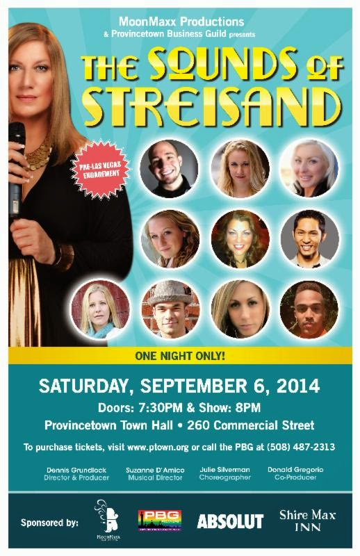 The Sounds of Streisand - Fall Show Sept 6 Provincetown Town Hall