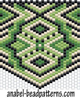 Кулон кирпичное плетение