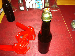 Broken beer bottle capper