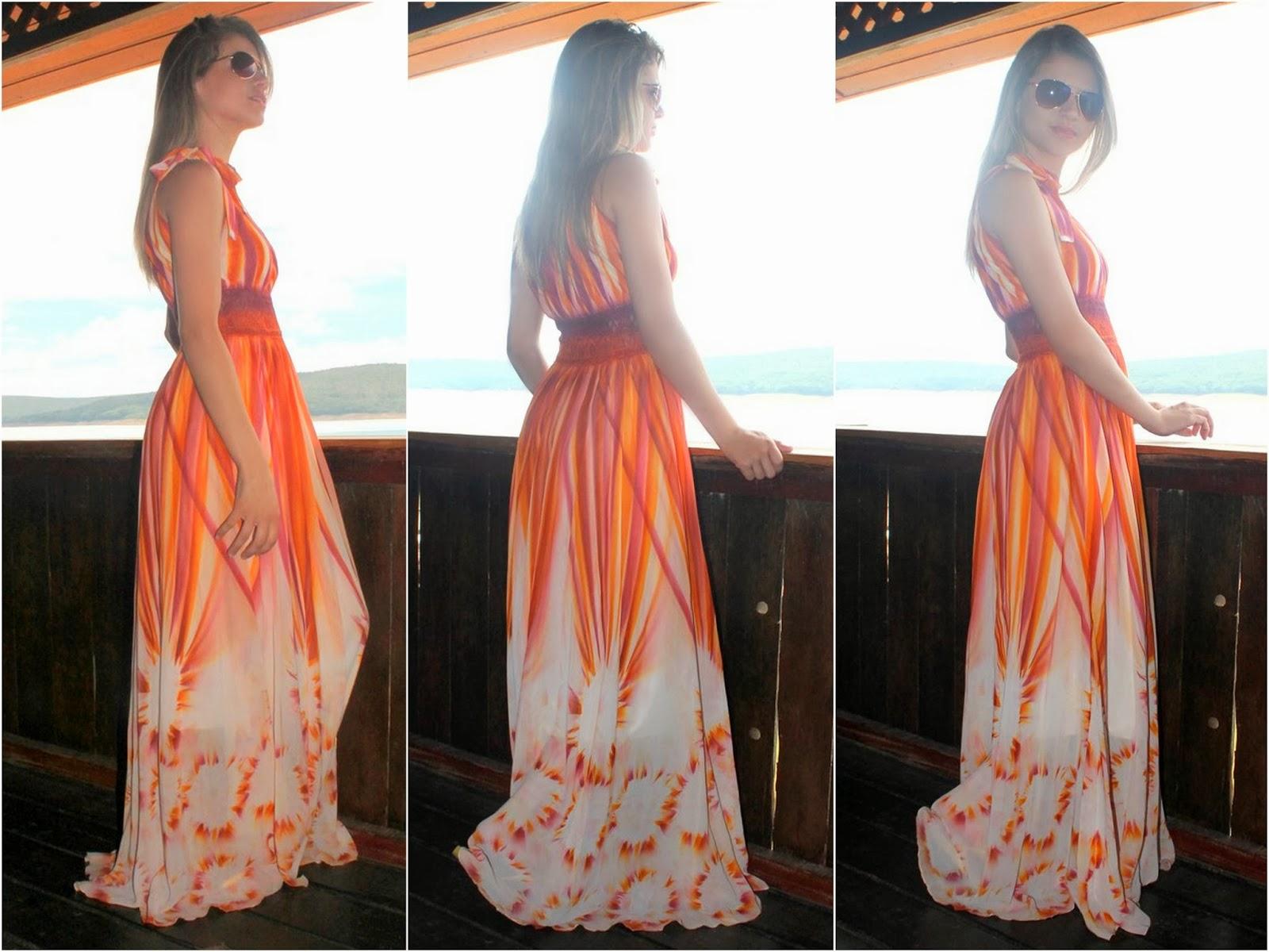 Vestido longo casamento bh