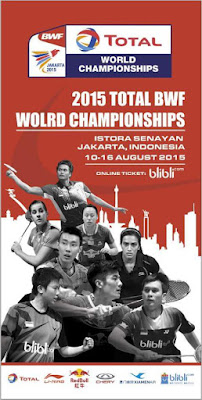 Jadual Keputusan BADMINTON DUNIA 2015 Pemain Malaysia
