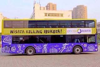 Itu Dia.! Bus Wisata Tingkat Mulai Keliling Jakarta