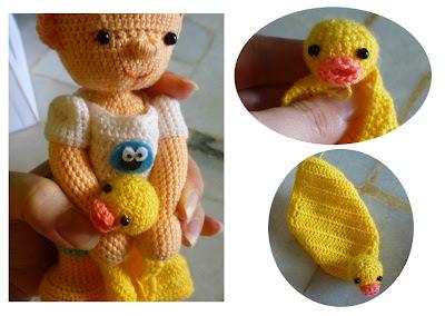 amigurumi crochet boy doll custom made cute doll with duckie blanket pattern ideas