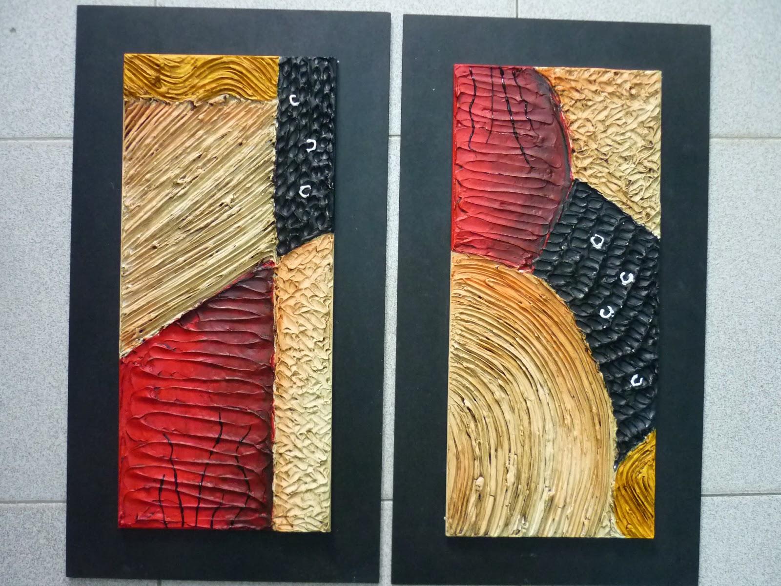 Creaciones de silvia textura por lorena for Cuadros en relieve abstractos