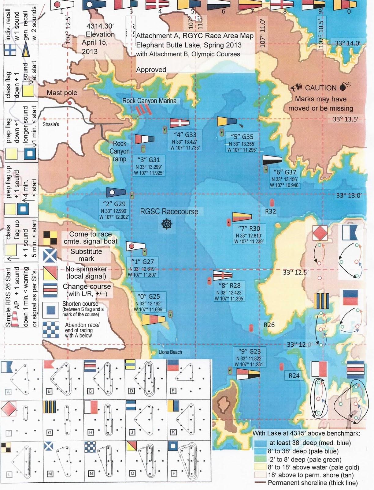 Desert Sea New Mexico And Southwestern Sailing Elephant Butte - Marks lake maps