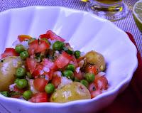 Batata Bolinha ao Vinagrete (vegana)