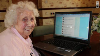 elderly woman computer
