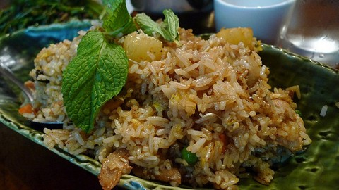 Pineapple Fried Rice with Mint