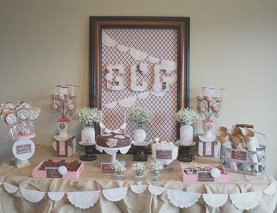 Mucho m s que dos especial primera comuni n ideas - Como decorar una mesa de comunion ...
