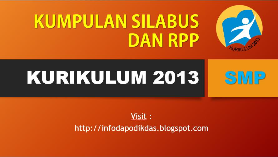 Download Silabus dan RPP SMP Kurikulum 2013 Kelas 7, 8, 9