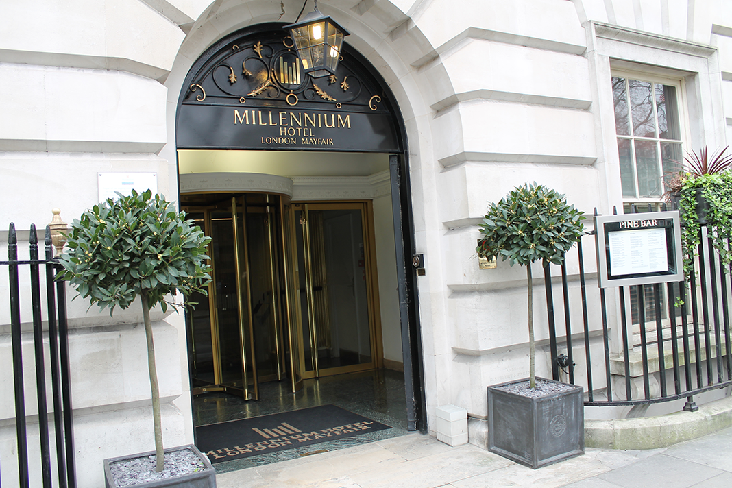 Afternoon tea at the millennium hotel in Mayfair, London