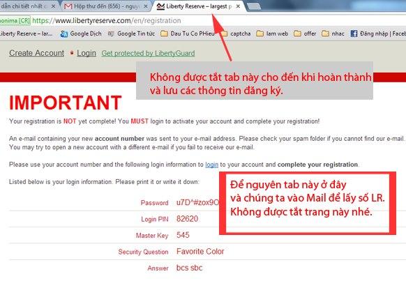 Hướng dẫn đăng ký tài khoản LR.