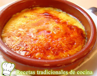 Receta de crema Catalana o crema quemada