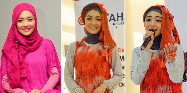 Gambar Foto Cara Berhijab Nuri Maulida Artis Cantik Indonesia Trend Model Jilbab