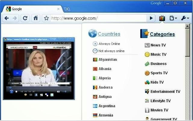 تحميل تطبيق على متصفح جوجل كروم لمشاهدة القنوات العالمية