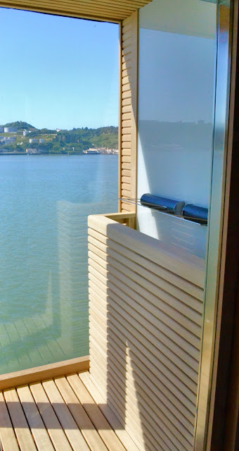 Your private sauna with ocean views too!