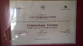 CORSO DI CRIMINOLOGIA FORENSE