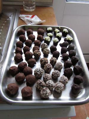 chocolate truffles handmade