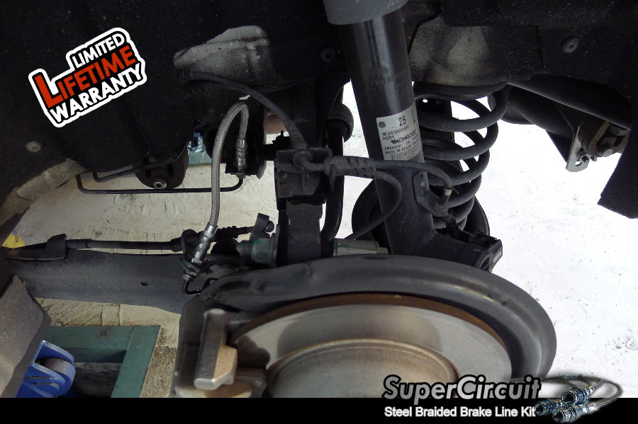 Direct Replacement Brake Lines : Supercircuit steel braided brake lines volkswagen