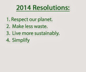 Reduce, reuse, recyle: one family's more sustainable 2014