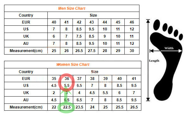Table Calendar Size : Vans shoe size chart search results calendar