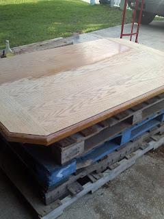 refinishing a laminate table