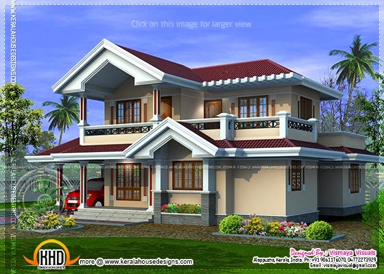 Kerala style villa plan
