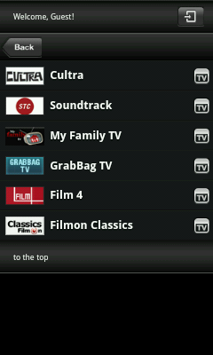 Android TV App - Movie Channels