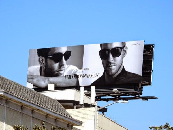Calvin Harris Emporio Armani sunglasses 2015 billboard