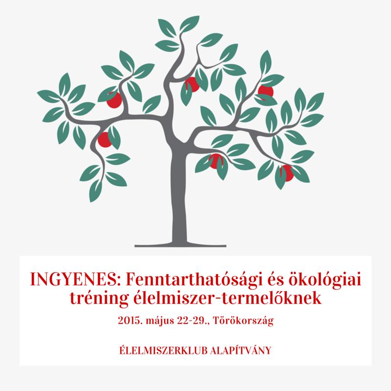 INGYENES: Fenntarthatósági és ökológiai tréning élelmiszer-termelőknek és -feldolgozóknak 2015. május 22-29., Törökország
