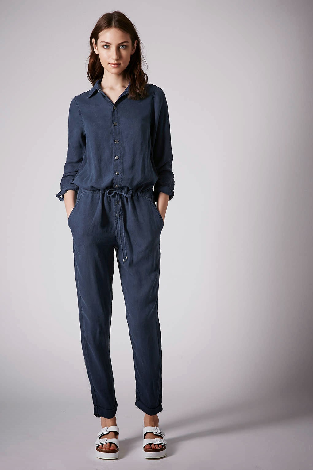 dark denim boilersuit