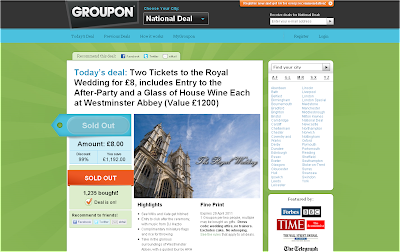 Groupon Royal Wedding Deal April Fools 2011