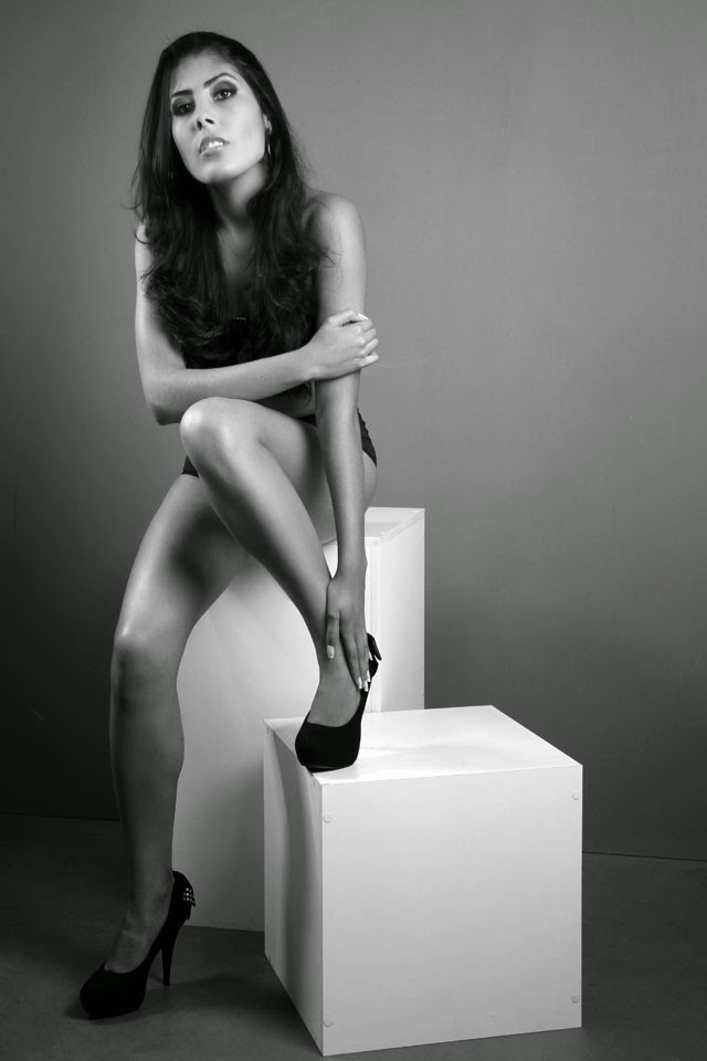 """""""Vou dar o melhor de mim neste concurso"""", disse a modelo Foto: Marcos Januário"""
