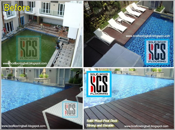 Strong And Durable Wooden Pool Deck