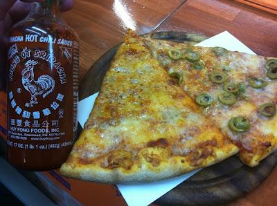 pizza and sriracha