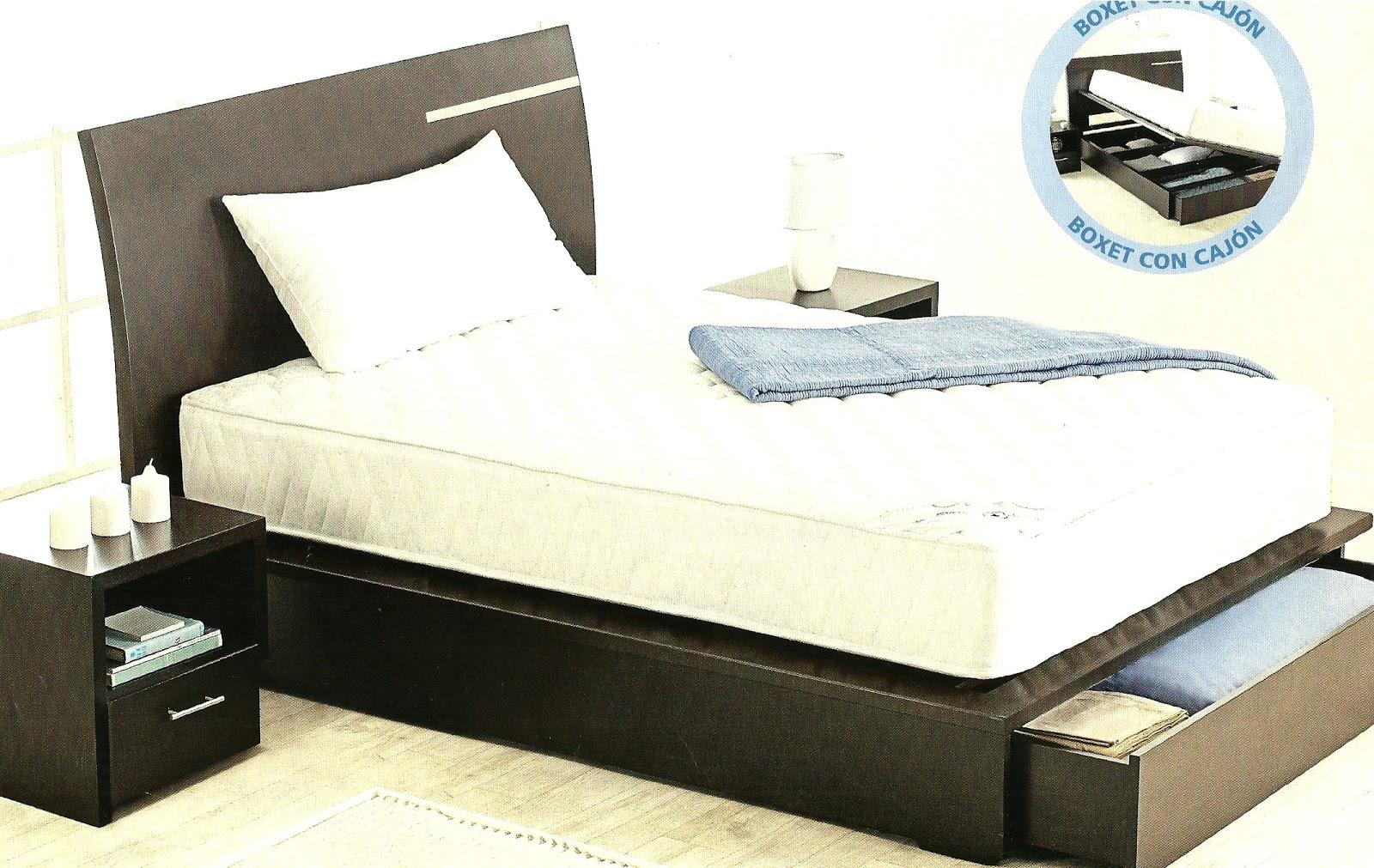 Camas tarimas de madera con cajoneras auxiliares - Cabeceros de cama con fotos ...