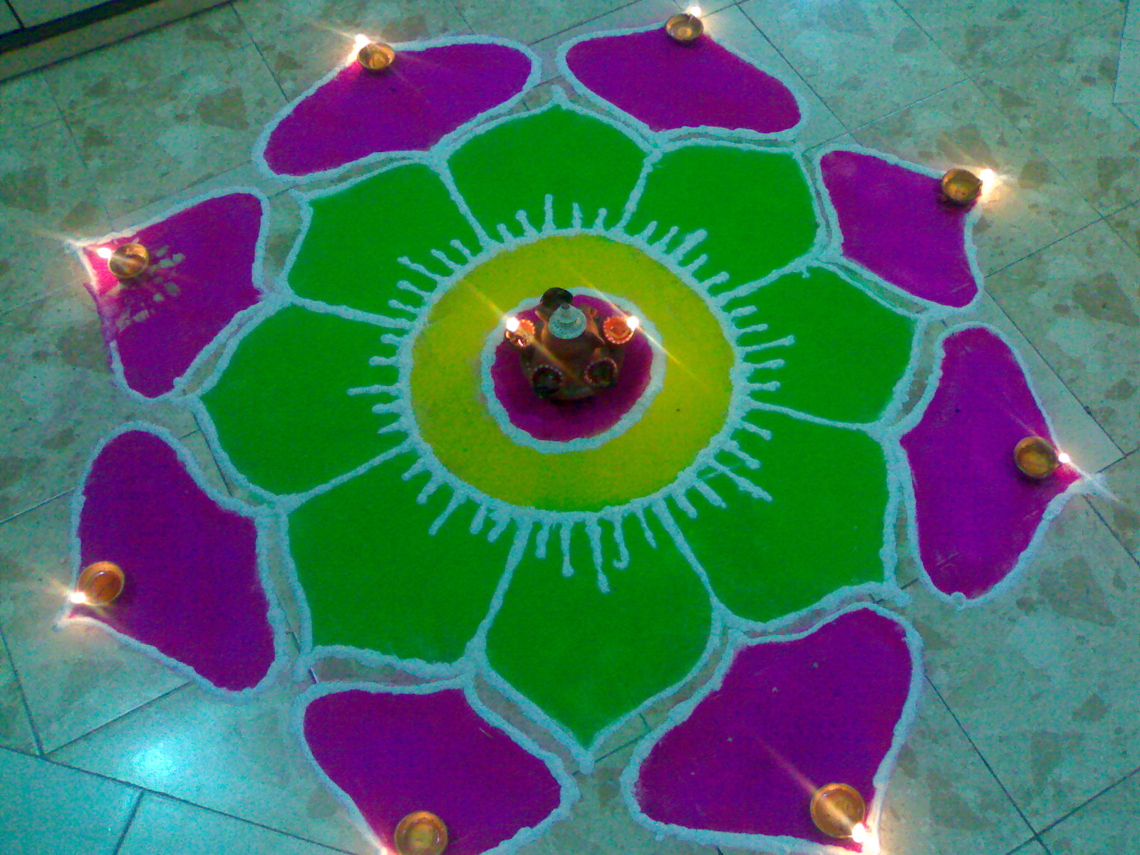 Famous Karva Chauth Rangoli Design JI Images for Free Download