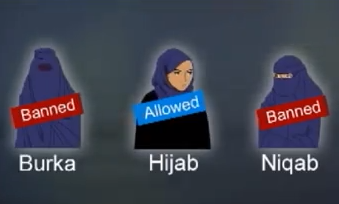 types and their names understanding the current ban in france Muslim Headscarves In France
