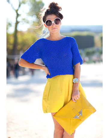 lanzarse al amarillo bien amarillo junto al azul, azulino, azul denim,  celeste, turquesa y toooooooodosssss los derivados de este color tan  básico\u2026y que