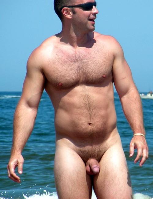 Nude beach hairy men