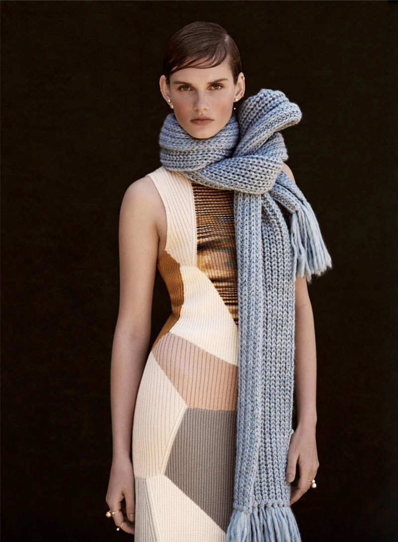 Giedre Dukauskaite in Cover me / Marie Claire UK September 2014 (photography: James Macari, styling: Tiffany Fraser Steele)