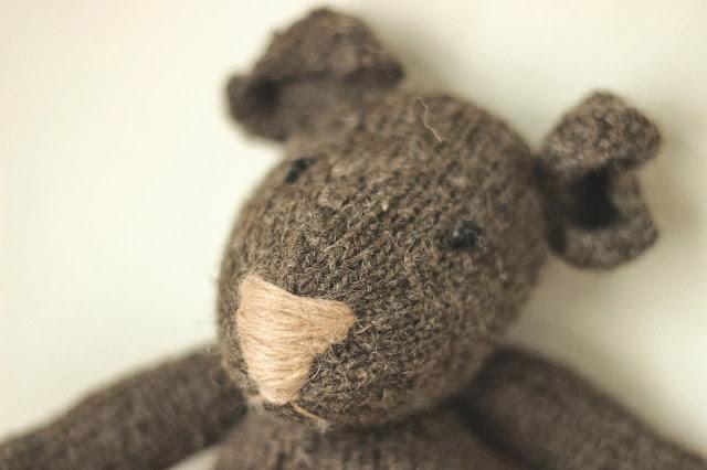 My handmade bear - knitting pattern from Mad Man Knitting