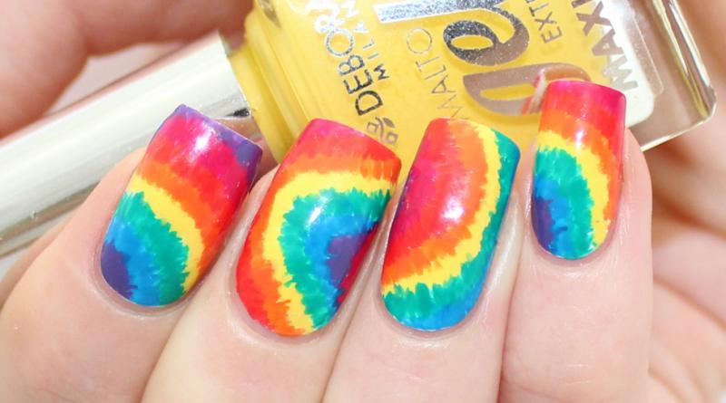 Nail Art Ideas Tie Dye Nail Art Deborah Milano