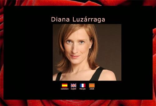 página web de la actriz Diana Luzárraga