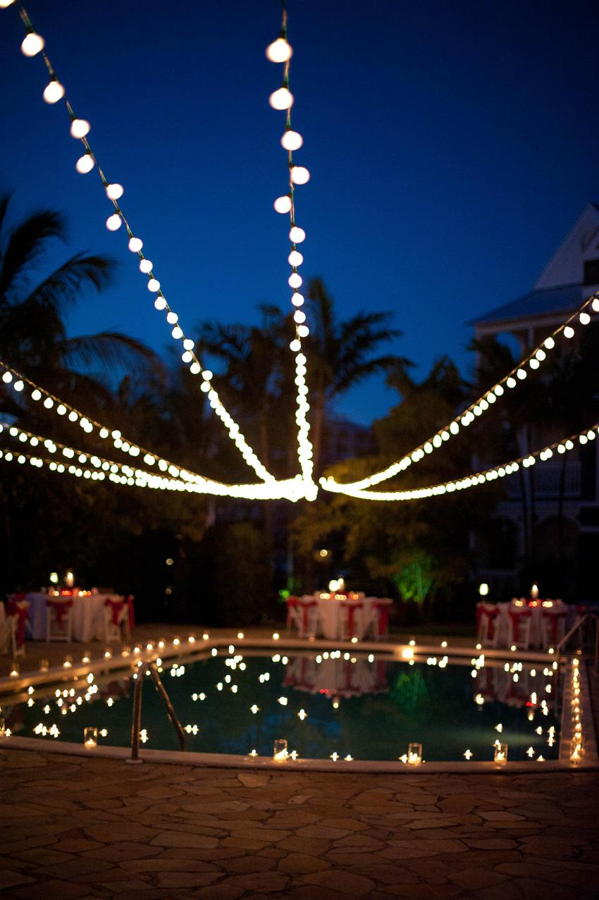 String Lights Around The Pool : Chic Bahamas Weddings: A Valentine s Day Inspired Bahamas Wedding