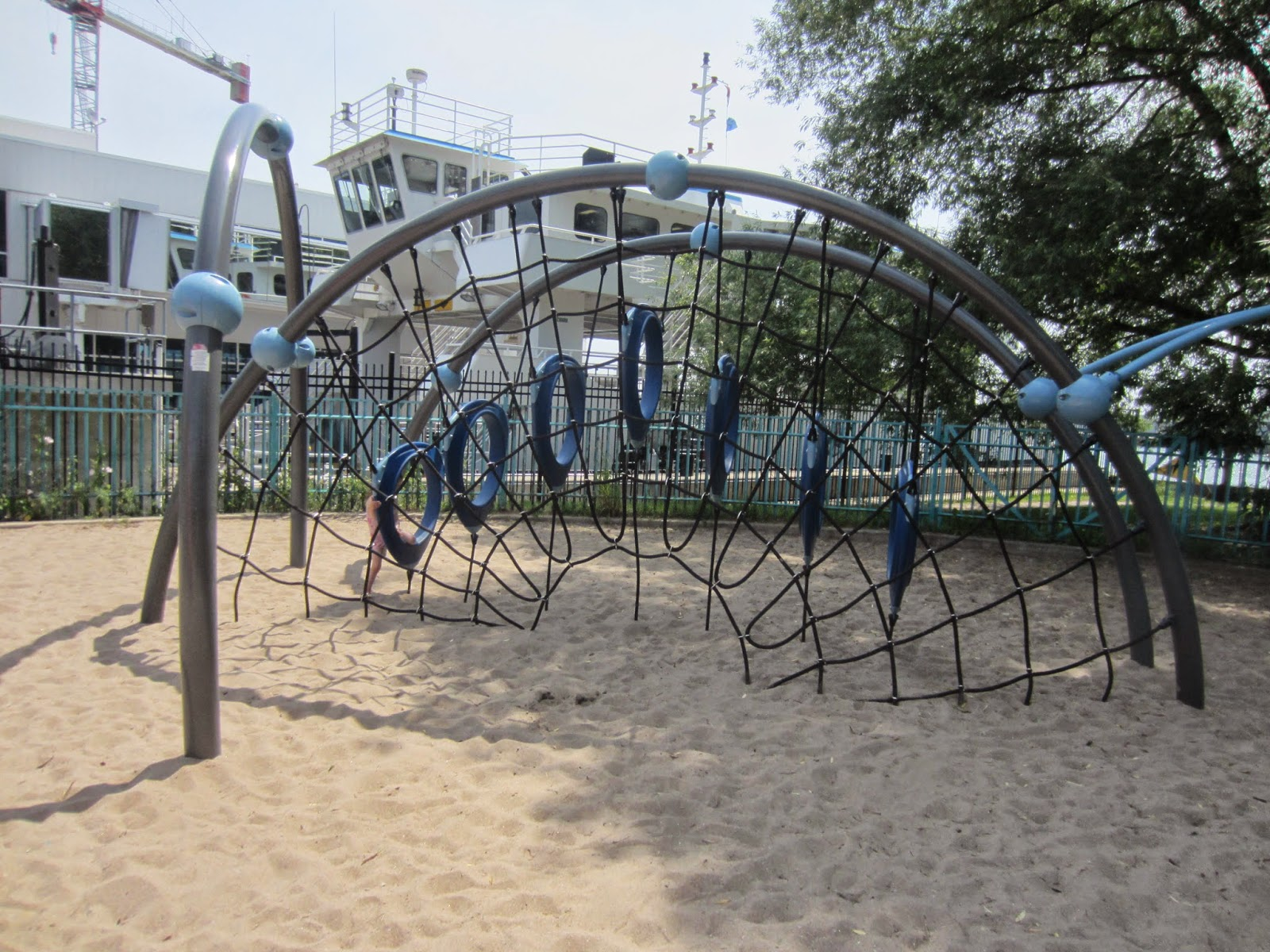 Little Norway Park and playground climber web