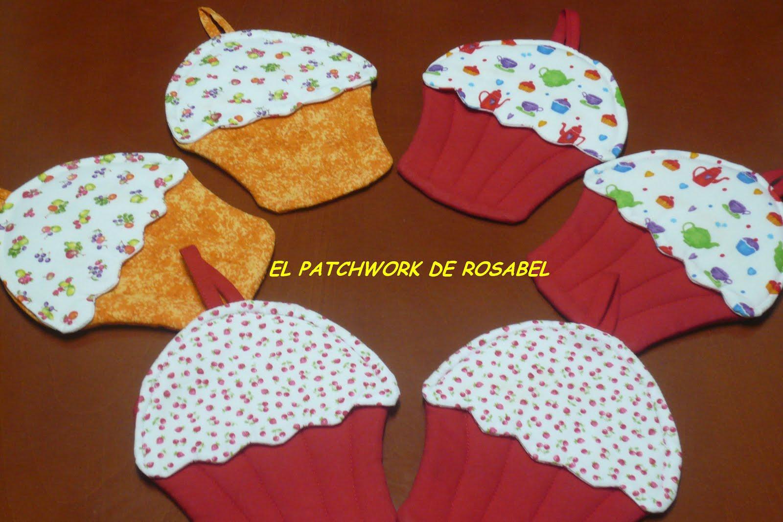 El patchwork de rosabel delantales y agarradores cupcakes - Patchwork para cocina ...
